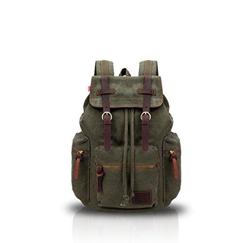 Imagen de fandare  de senderismo daypacks computadoras laptop  satchel bookbag alpinismo multi función vintage bolsa de tela verde