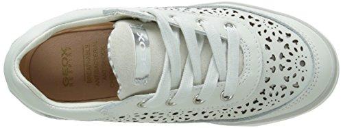 Geox Ciak H, Baskets Basses Fille Blanc (C1002)