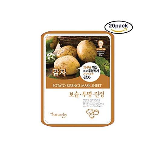 Natureby Maske der Haut der Essenz der Kartoffel täglich mit Packung mit 20 Blättern