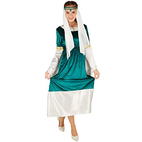 TecTake dressforfun Frauenkostüm Elfenprinzessin | Verzauberndes Elfenprinzessinnen-Kleid | Inkl. wunderschönem Kopfschmuck (L | no. 301162)