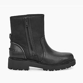 UGG Polk Ladies Leather Ankle Boots Black 9