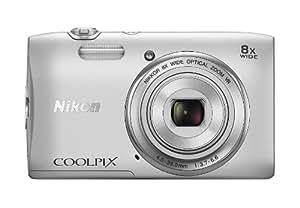 Nikon Coolpix S3600 Digitalkamera (20 Megapixel, 8-fach opt. Weitwinkel-Zoom, 6,9 cm (2,7 Zoll) TFT-LCD-Display, bildstabilisiert, Dynamic-Fine-Zoom, HD) silber