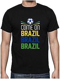 Green Turtle T-Shirts Camiseta para Hombre - Vamos Brasil - Apoya a la Selección