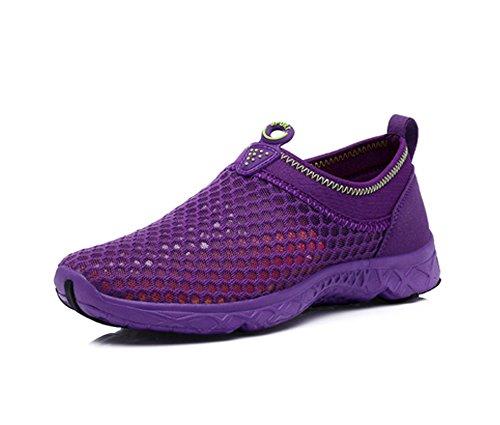 Yiruiya Ladies Aqua Shoes Scarpe Da Nuoto Traspiranti Slip-on Sport Acquatici Unisex Violet-2