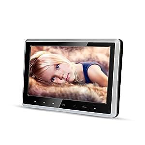 Appuie-têtes Lecteur DVD, 10,1 pouces HD 720P Écran LCD TFT numérique Support de lecteur DVD portable DVD / VCD / SD / USB / HDMI Écran de repose-écran Téléviseur de siège arrière pour voiture (CL-Z102D) …