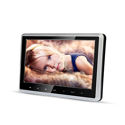 MiCarBa Auto-DVD-Player für Kinder 10,1 Zoll Breitbild Ultra-Dünne Kopfstütze DVD-Player-Monitor mit HDMI USB SD FM Fernbedienung für Lange Reise im Auto Entertainment (CLZ102D) (Auto Für Dvd Kinder)