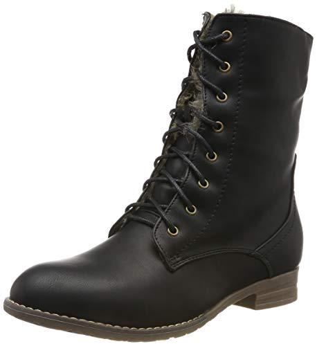 Warm Gefütterte Damen Stiefeletten Worker Boots Kunstfell Schuhe 125875 Schwarz Braun Brooklyn 37 Flandell