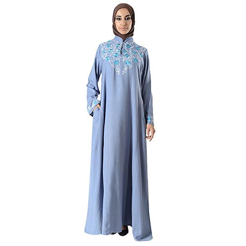 Mandarin Embroidered Eid Abaya