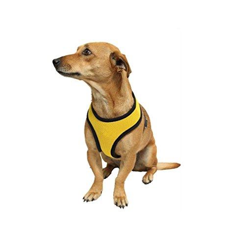 Ducomi® Snoopy pettorina regolabile e confortevole per cani e cuccioli (M, Yellow)
