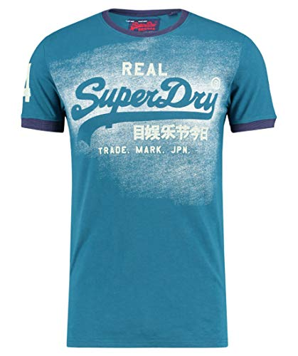 Superdry Herren T-Shirt Vintage Logo Duo Ringer blau (296) M -