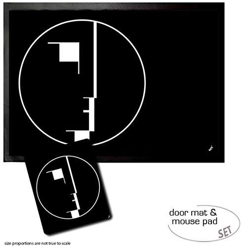 Set: 1 Fußmatte Türmatte (70x50 cm) + 1 Mauspad (23x19 cm) - Oskar Schlemmer, Staatliches Bauhaus,...