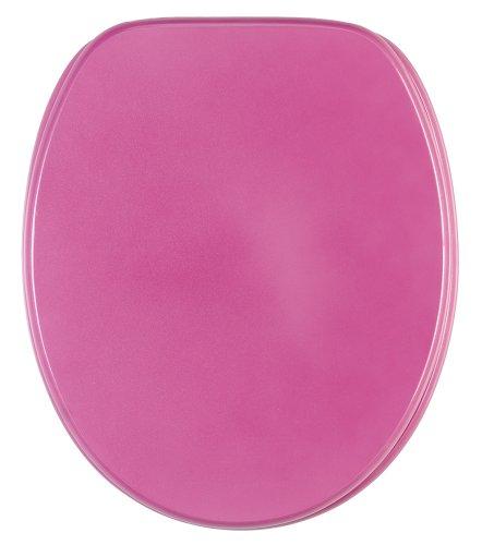Sanilo WC Sitz mit Absenkautomatik Glitzer Pink | hochwertige Oberfläche | einfache Montage | stabile Scharniere   A642699