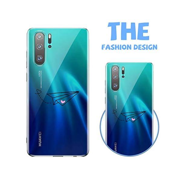 Oihxse Transparente Silicona Case Compatible con Huawei Enjoy 8 Plus/Y9 2018 Funda Suave TPU Protección Carcasa Moda… 4