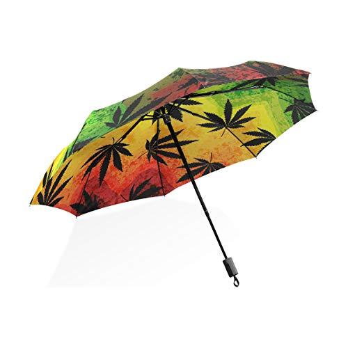 ISAOA Paraguas de Viaje automático Compacto Plegable Paraguas atrapasueños Resistente al Viento Ultra Ligero UV protección Paraguas para Mujeres y Hombres