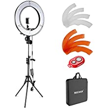 Neewer Ring Light with Stand Kit: 18-inch Outer 52W 5500K Dimmable LED Ring Light with Filter, Stand, Soft Tube, Phone Holder and Carrying Bag for TikTok YouTube Video, Selfie Light, Makeup, etc