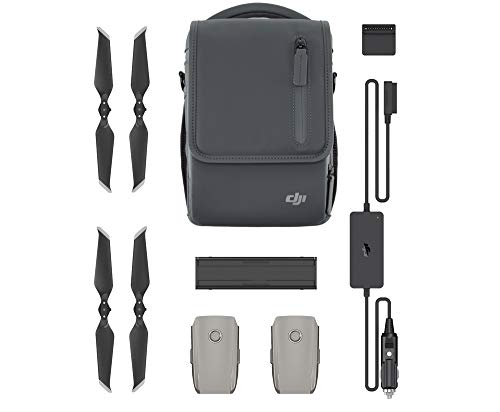 DJI - Mavic 2 Fly More Kit | Include 2 Intelligent Flight Battery, 1 Caricabatterie Multiplo, 1 Caricabatterie da Auto, Eliche LOW-NOISE e 1 borsetta da trasporto