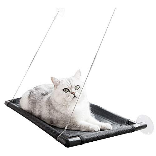 CHEN. Hängendes Bett der Katze - hängendes Bett der Katzenhängematten-Saugnapf-Sommersonnenfensterbrettansichtkatzenbett-Katzenversorgungen