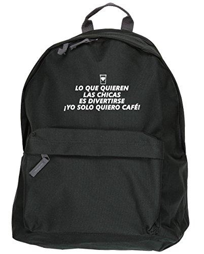 HippoWarehouse Algunas Chicas Quieren Diversión. ¡Yo Solo Quiero Café! kit mochila Dimensiones: 31 x 42 x 21 cm Capacidad: 18 litros