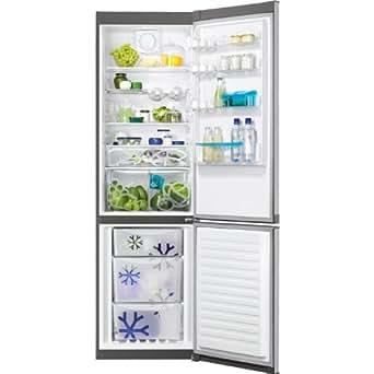 Zanussi ZRB38315XA Autonome 357L A++ Gris réfrigérateur-congélateur - Réfrigérateurs-congélateurs (357 L, SN-T, A++, Gris)