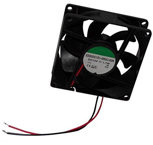 Aerzetix: Gehäuse Lüfter für Computer PC 12 V 80 x 80 x 25 mm 69,7 M3/H 33dBA 3200RPM 28 AWG