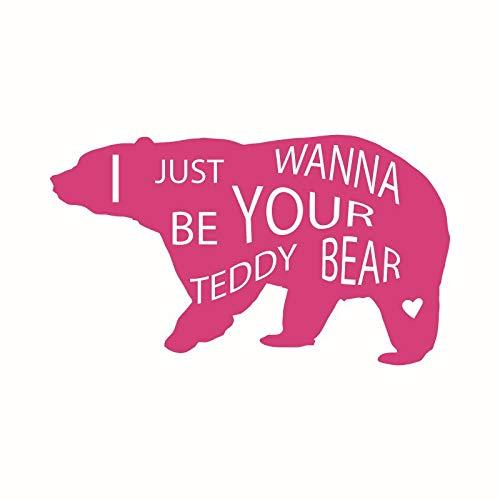 ICH WILL NUR DEIN TEDDY BEAR Babyzimmer und Kinderzimmer Neugeborenen Party Kreative Wandaufkleber Bär Dekoration Tapete 33 * 57 cm