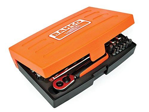 Bahco SL25L Steckschlüssel-Satz 1/4Zoll Standard, 37 Stück