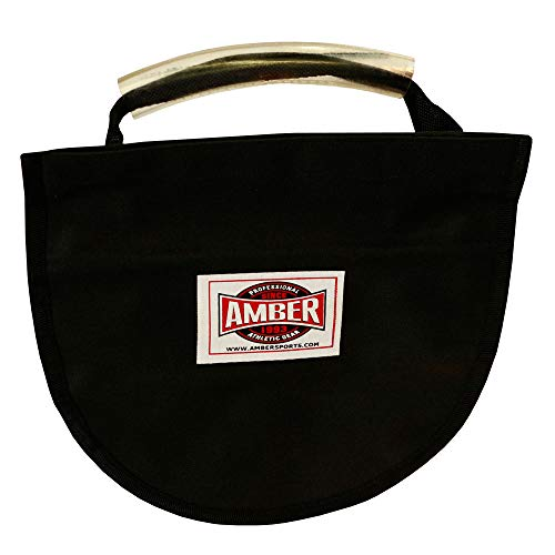 Amber Athletic Gear Unisex Adult Discus Carry Bag With Strap For One Implement, Black, Nicht zutreffend