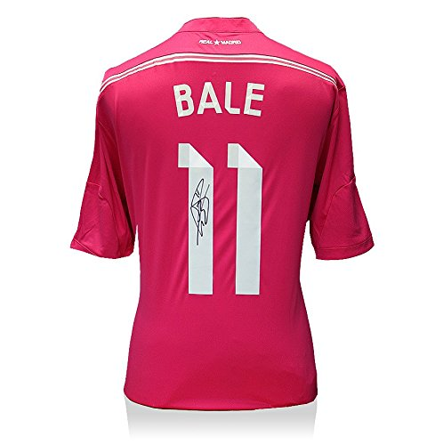 Icons-Shop-Unisex-ICGBRMS3-Gareth-Bale-Back-Signed-Real-Madrid-2014-15-Away-Shirt-Multi-Colour