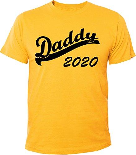Mister Merchandise Herren Men T-Shirt Daddy 2020 Tee Shirt bedruckt Gelb