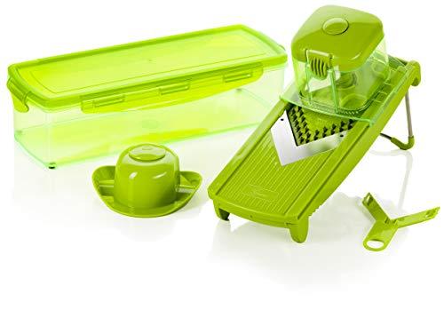 Genius Speed Slicer Medium   6 Teile   Obst-& Gemüseschneider   NEU ..., Edelstahl, Grün,