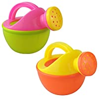 Zantec Baby Bath Toy Plastic Watering Can Watering Pot Beach Toy Play Sand Toy Gift for Kids Random Color 1pcs