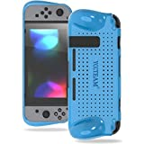 yccsky Soft Grip Case für Nintendo Schalter, Stabiler Schutzhülle Back Cover mit Dämpfung und Airflow Design für Nintendo Schalter-2017, Blau