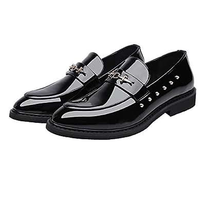Yaojiaju Herren Glattes PU Leder Obermaterial Slip-on Atmungsaktiv Gefüttert Oxford Business Schuhe (Farbe : Brown, Size : 38 EU)