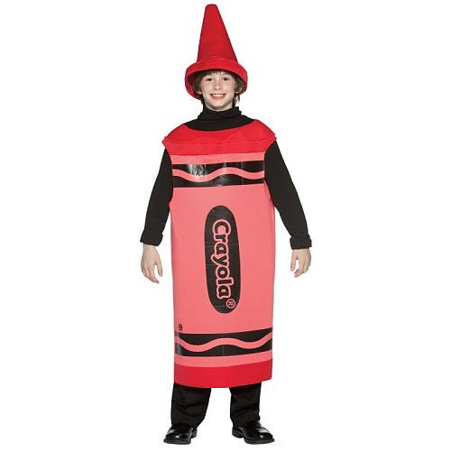 Rasta Imposta Crayola Crayons - Ages 10 / 12 - Child Fancy Dress Costume - Red