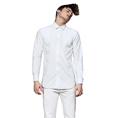 Kermit psyche uomo casuale camicie autunno inverno maniche lunghe bottone giù camicie kp-1003 (s(165/84a))