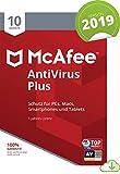 McAfee AntiVirus Plus 2019 | 10 Geräte|1 Jahr | PC/Mac/Smartphone/Tablet | Download [Online Code]