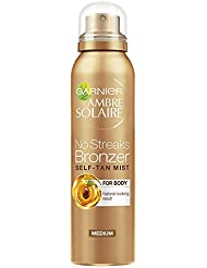 Garnier Ambre Solaire No Streaks Bronzer Medium Self Tan Body Mist, 150 ml