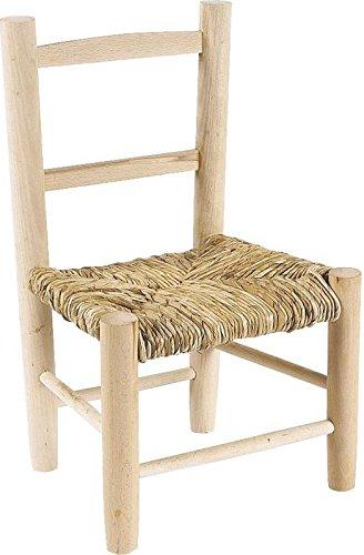 Piccola sedia in legno per bambini beige