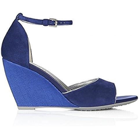 Hogan H227 sandalo in camoscio con profili in pelle metallizzata - Codice modello:
