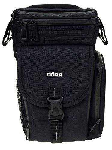 Fototasche PARKOUR Zoom schwarz für große DSLR Kamera mit Batteriegriff und Telezoom-Objektiv