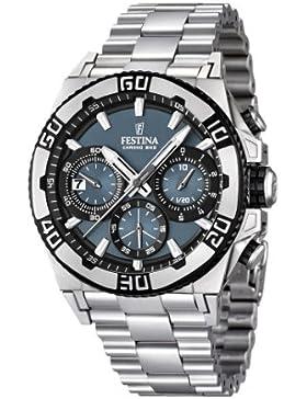 Festina Herren-Armbanduhr XL Tourchrono 2013 Chronograph Quarz Edelstahl F16658/3