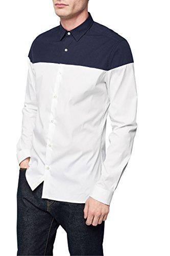 next Chemise manches longues effet coupé-cousu Standard Homme Blanc