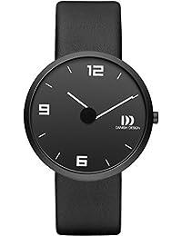 Danish Design Homme Montre à quartz avec affichage analogique et bracelet en cuir noir cadran noir dz120469