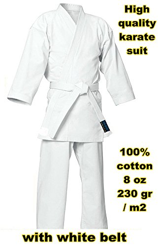 Kimono karate 100% cotton 230 gr 8 oz (4 / 170 cm)