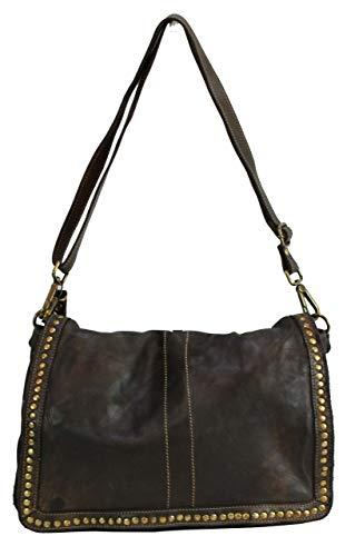 BZNA Bag Gil Braun moro Italy Designer Clutch Umhängetasche Damen Handtasche Schultertasche Tasche Leder Shopper Neu