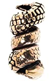 Windalf Pagan Haar & Bartschmuck RAGDA Ø 0.6 cm h: 2.4 cm Haarschmuck Drachenkralle Drachenschmuck Dread Tube Bronze