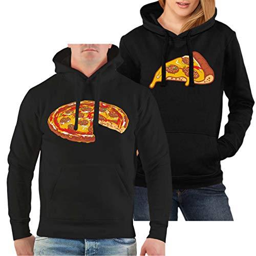 Spaß kostet Partner Kapuzenpullover Mann & Frau Familien Outfit Pizza Größe S - 8XL