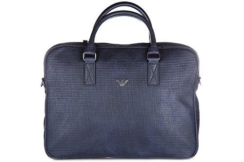 Armani Jeans borsa lavoro portadocumenti pc notebook cartella blu