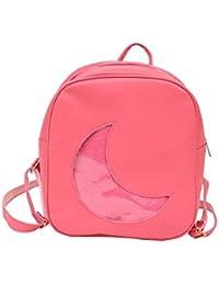 8806aeafb9676 Kindergarten-Cartoon-Rucksack Trend-Mond-Form Netter Rucksack  Persönlichkeit Kleiner Rucksack Schultasche
