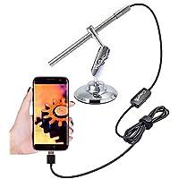 CrazyFire USB microscopio digitale USB microscopio, ingrandimento 200x, 1MP HD
